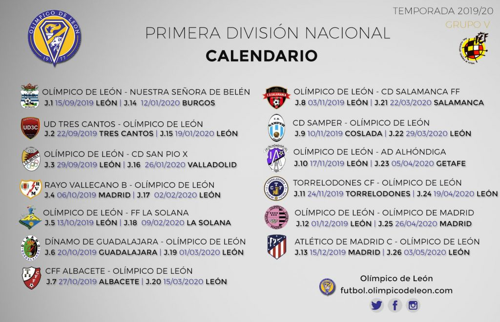 Calendario Belen 2020.Calendario Archivos Olimpico De Leon Club De Futbol